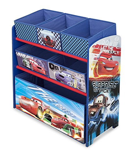 Delta Children Multi-Bin Toy Organizer, Disney/Pixar Cars (Storing Toys)