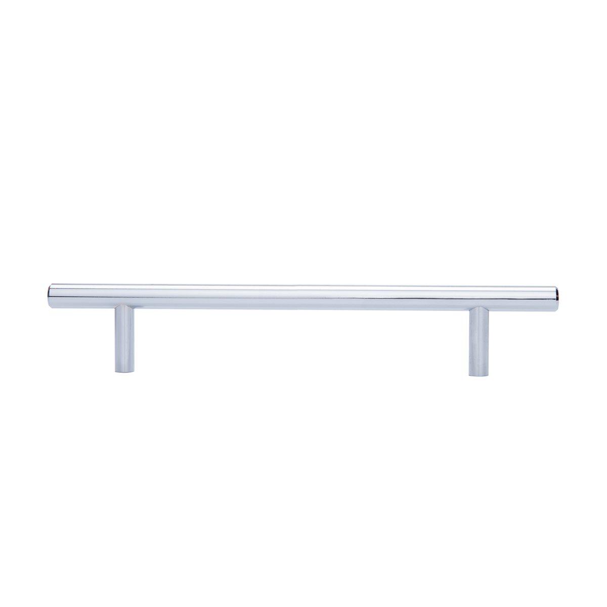 13,66 cm de longitud Basics tipo europeo Paquete de 10 N/íquel satinado centro del orificio de 7,62 cm 9,52 mm de di/ámetro Tirador de armario en forma de barra