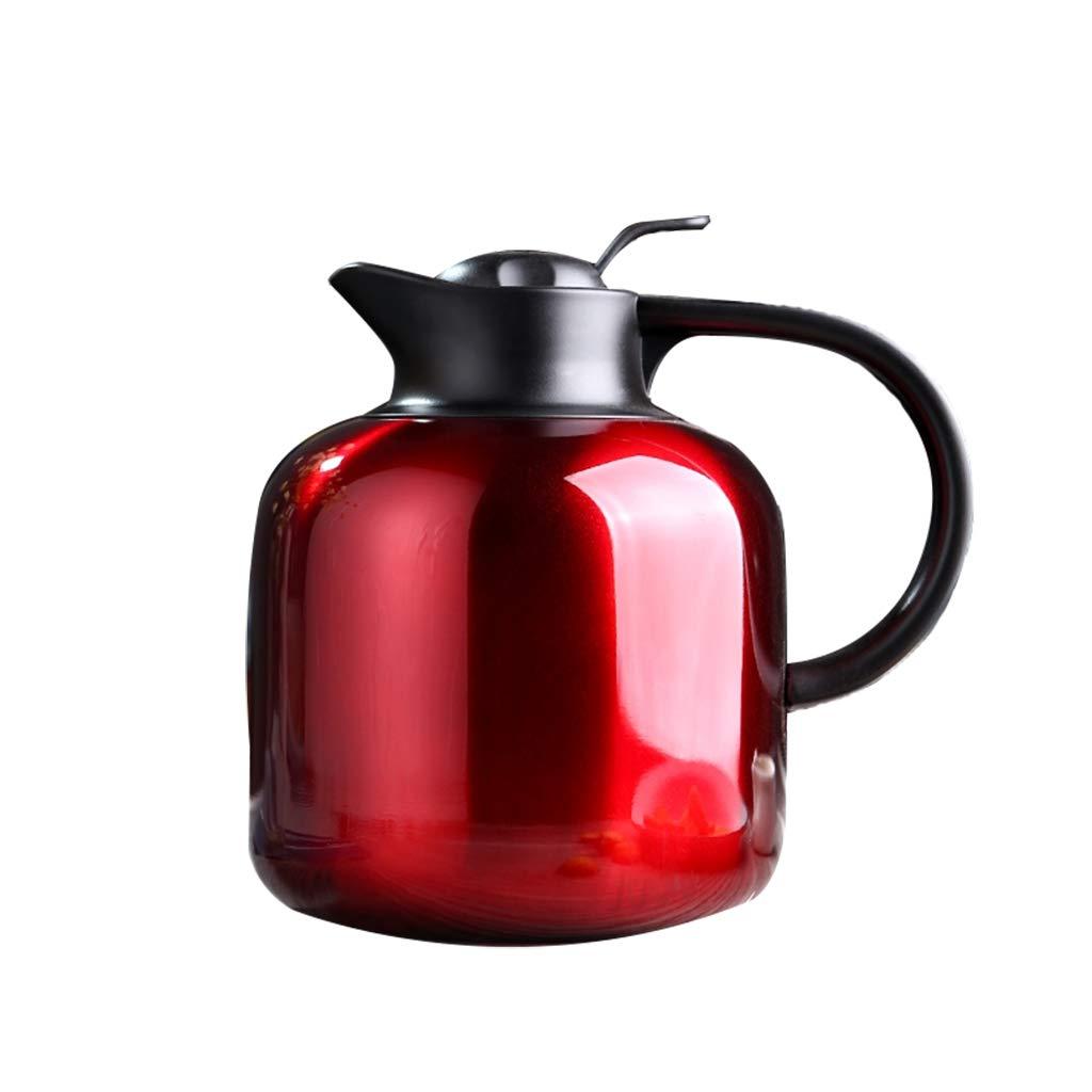FYCZ Thermoskannen, 304 Edelstahl 2L Doppelwandige Vakuumisolierte Kaffeekanne Kaffee Plunger Juice Isolation Reisebecher B7