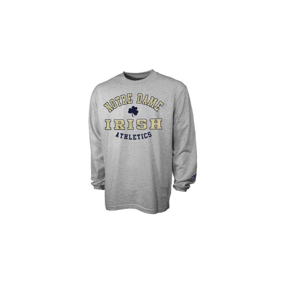 Adidas Notre Dame Fighting Irish Ash Rivalry Long Sleeve T shirt