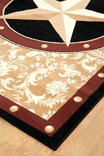 Texas Western Star Rustic Cowboy Decor Gold Brown Black