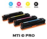 MTI © PRO Compatible HP 305A / 305X Color Toner Set (CMYK) for HP LaserJet Pro 300 and 400 Series: M351, M375NW, M451DN, M451DW, M475DN, M475DW (Includes: HP CE410X, CE411A, CE412A, CE413A), Office Central