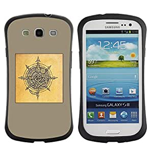 Suave TPU GEL Carcasa Funda Silicona Blando Estuche Caso de protección (para) Samsung Galaxy S3 I9300 / CECELL Phone case / / yellow Viking shield brown black sketch /