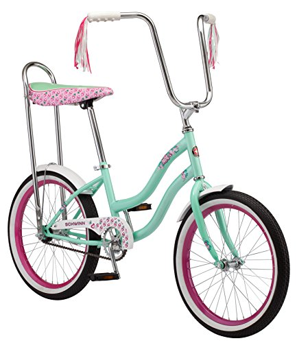 Schwinn Girl's Mist Polo Bike, 20-Inch, Mint Banana Seat Bike