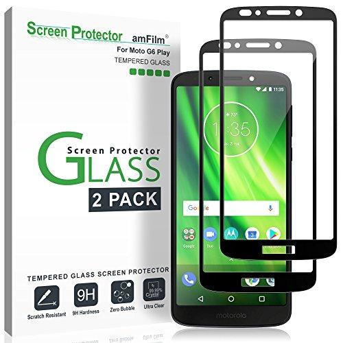 "amFilm""Moto G6 Play"" Screen Protector Glass 2 Pack, Dot Matrix Glass Screen Protector for Moto G6 Play [Not Moto G6] Model Number XT1922 (2018) from amFilm"