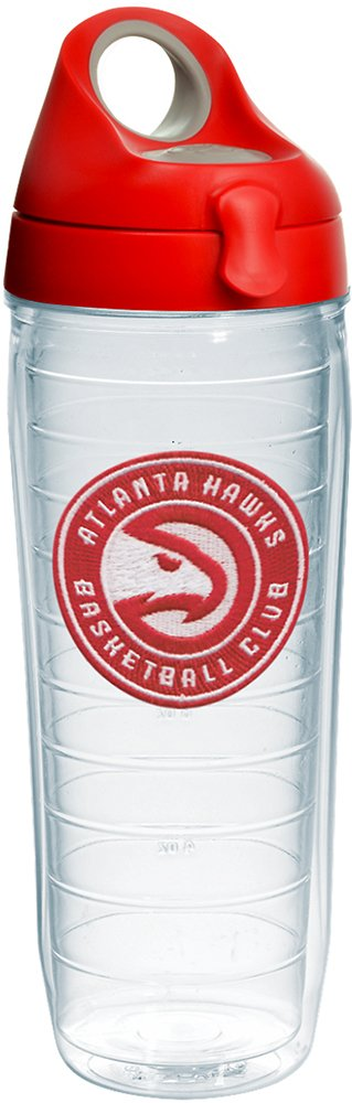 Tervis 1231913 NBA Atlanta Hawks Circle Logo Tumbler with Emblem and Red with Gray Lid 24oz Water Bottle, Clear by Tervis