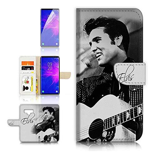 (for Samsung Note 9, Galaxy Note 9) Flip Wallet Case Cover & Screen Protector Bundle - A8415 Elvis Presley