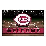 FANMATS 21915 Team Color Crumb Rubber Cincinnati Reds Door Mat, 1 Pack