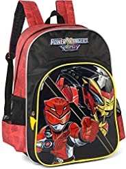 Mochila Escolar, Power Rangers, Luxcel, IS34181PR-0400, Vermelho