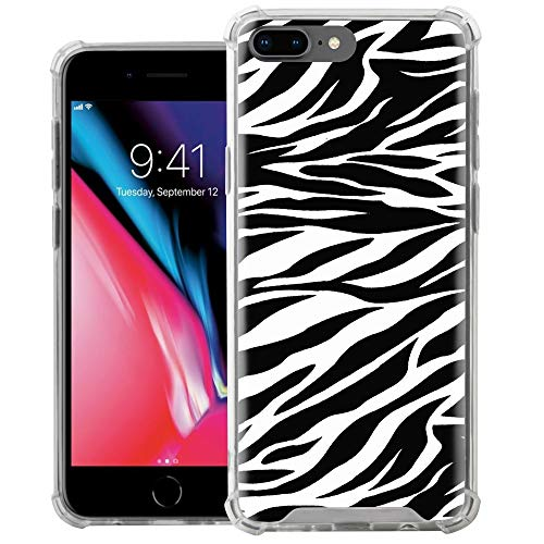 - CasesOnDeck Bumper Case Compatible with [Apple iPhone 7 Plus/iPhone 8 Plus] Slim Fitted Clear TPU Bumper Shock Case (Zebra Stripes)