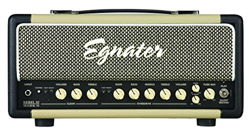 Egnater REBEL -30 MARK II 30-Watt Two-Channel Tube Head with Tube Mix, Reverb and Silent Record, 2 x 6V6 and 2 x EL84 Power Tubes, 5 x 12AX7 Preamp Tubes by Egnater