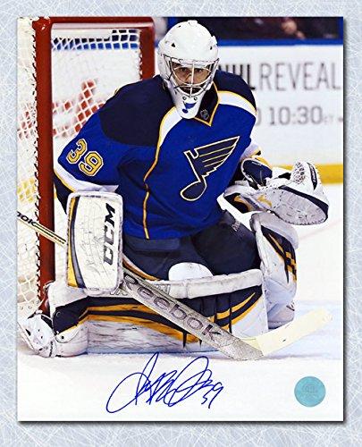 AJ Sports World Ryan Miller St. Louis Blues Autographed Goalie Action 8x10 Photo ()