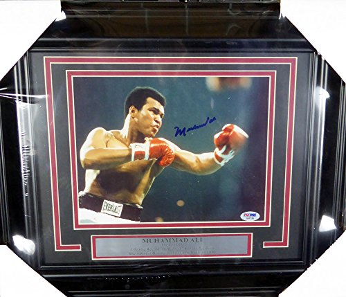 - Muhammad Ali Autographed Framed 8x10 Photo Graded Gem 10 PSA/DNA #E47126