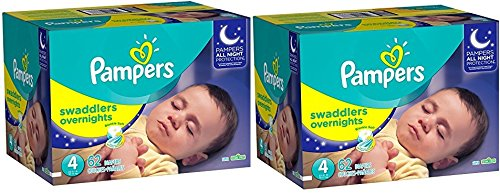 Pampers Swaddlers Overnights Diapers GQGyLS, Size 4, 124 Count by Pampers