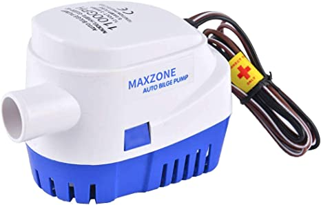 12V 1100GPH Boat Marine Automatic Submersible Auto Bilge Water Pump Float Switch