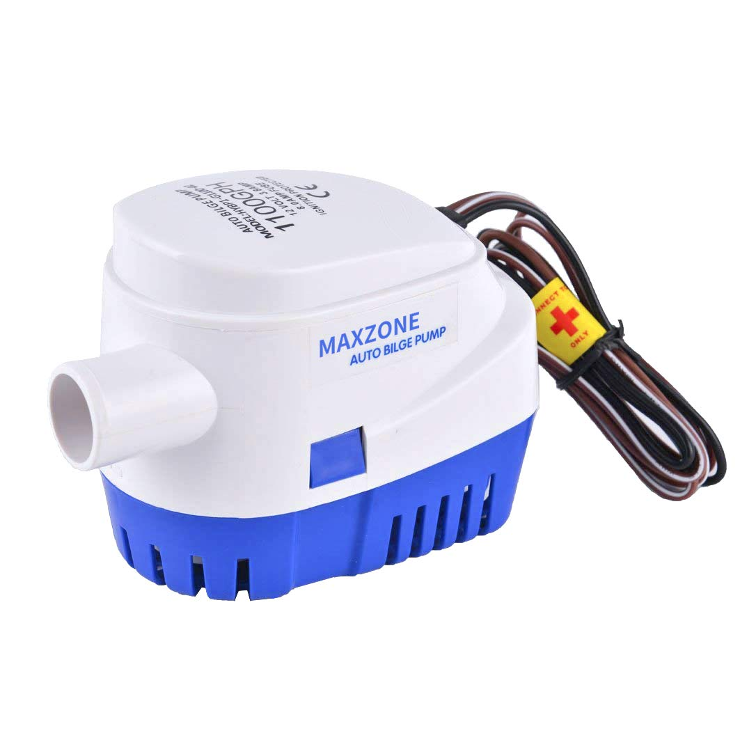MAXZONE Automatic Submersible Boat Bilge Water Pump 12v 1100gph Auto with Float Switch