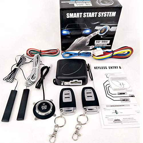Robert Matthew Samani Passives Keyless Entry System PKE Motor Starter Push Button Fahrzeuge Start//Stop Kit Safe Lock mit 2 Smart Key