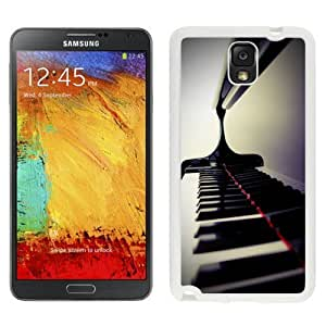NEW Custom Cover For Samsung Galaxy Note 3 N900 Case With Piano Keys Closeup_White Phone Case