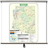 Kappa Map Group Arizona Large Scale Shaded Relief Wall Map on Spring Roller