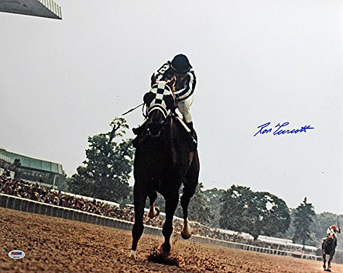 Autographed Triple Crown - Ron Turcotte Secretariat Triple Crown Autographed 16X20 Photo - PSA/DNA Authentic