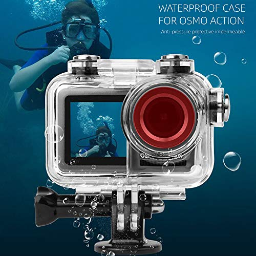 Shan-S 60M Waterproof Protective Housing Case Diving Shell for DJI Osmo Action Sports Camera Accessories Set, Professional Dive Underwater Use Action Camera, Ergonomic Design
