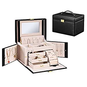 Amazoncom Vlando City Beauty Medium Jewelry Box Faux Leather