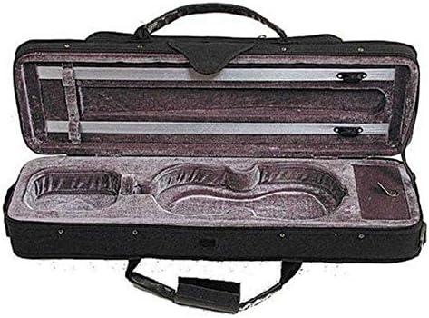 2 Bow Clips 4//4 Integral Cover Stentor Violin Case Oblong Black Lightweight
