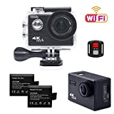 TEKCAM 7000S 4K Wifi Sports Action Camera Ultra HD 12MP 30M Waterproof Camera Camcorder 2.0 LCD 170 Degree with 2.4G Remote Control / 2 Rechargeable 1050mAh Batteries Action Cameras TEKCAM