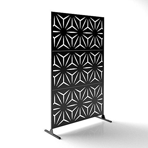 Veradek Star Decorative Screen Set w/Stand - Black ()