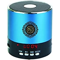 Hitopin Portable Digital Quran Speaker 8GB Blue Color with Remote Control over 30Reciters and Translations Available Quality Quran Speaker Arabic English French, Urdu etc Mp3 FM Radio HP-SQ168BL