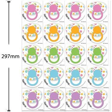 colore bianco per 35/giocatori versione inglese intrattenimento per feste pre-maman Gioco Pin the dummy on the baby