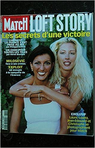 Paris Match N 2720 2001 Loft Story Laure Loana Les Tresors D Emmanuelle 3701136775219 Amazon Com Books