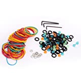 Getmore Tattoo Tool 50pcs Rubber Band +50pcs Shockproof O-ring +50pcs Grommets Nipples + 3pcs Wrench +10pcs Spacers