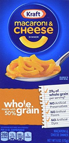 Kraft Mac & Cheese Whole Grain Macaroni & Cheese Dinner, ...