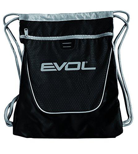 EVOL Bolsa de hombro con cordones ajustables y bolsillo frontal con cremallera–Roll -