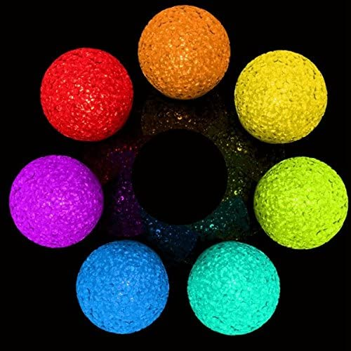7 Colors Changing LED Crystal Ball Night Light Room Wedding Decor Lamps