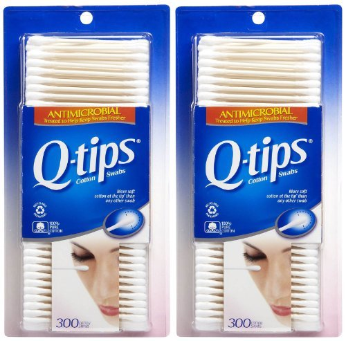 Q-tips Antimicrobial - Q-Tips Anti Microbial Cotton Swabs - 300 ct - 2 pk
