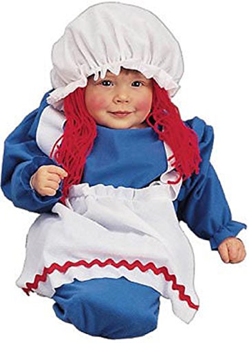 Charades Rag Doll Baby Costume - Bunting 0-6 (Rag Doll Toddler Costumes)