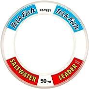 Trik Fish SWL0010001 Mono SW Leader Wrist Spool 100-Pound, 50-Yards, Clear