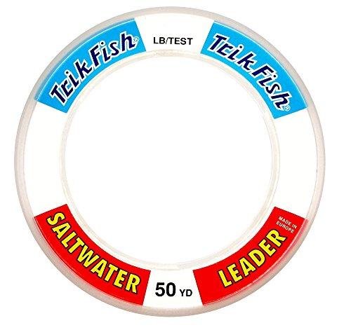 (Trik Fish SWL0008001 Mono SW Leader Wrist Spool 80-Pound, 50-Yards, Clear)