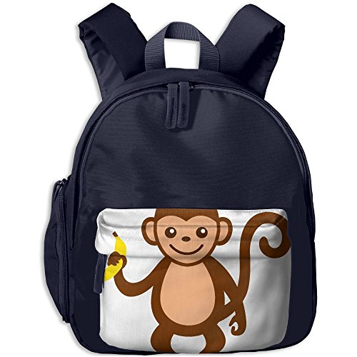 Monkey With Cymbals Costume (Druily Casual Lightweight Canvas Print Backpacks Shoulder Bag School Backpack For Kids Boys Girls Backpack Satchel School Book Bag)