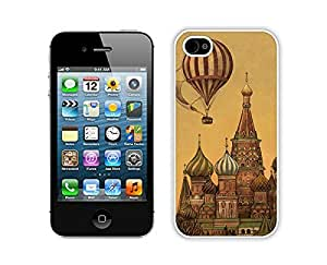 Apple Iphone 4s Case Durable Soft Silicone Classic Top Art Design Funny Slim White Cell Phone Case Cover for Iphone 4