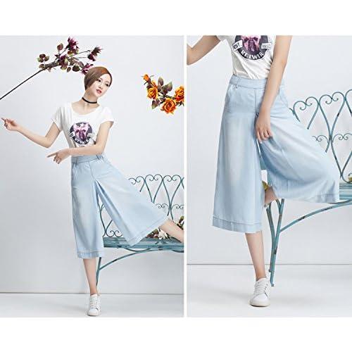 57bd4d0dfc4 chic Skirt BL Women s Plus Size Wide Leg Bootcut Capri Palazzo Jean Pants  Suits