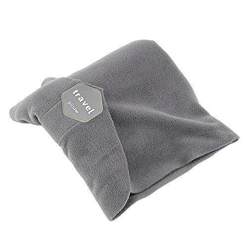 Jazer Travel Pillow Neck Pillow - Scientifically Proven Super Soft Neck Support, Machine Washable (Gray)