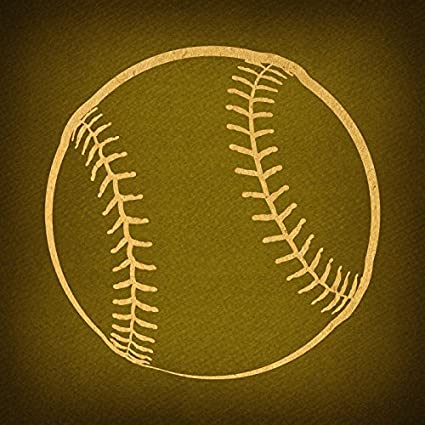 Amazon.com: Classic Baseball Print for Wall Art & Home Decoration ...