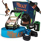 Premium Slackline Kit 60ft Longest Ever - Tree Protectors Ratchet Cover Strong Carry Bag - Slack Lines for Backyard Ideal for All Levels - Ninja Tight Rope for Trees Easy Setup Outdoor Healthy Fun