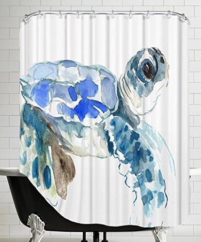 American Flat Sea Turtle Shower Curtain By Suren Nersisyan 71quot
