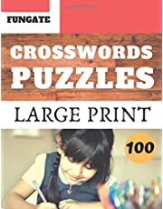 Crosswords Puzzles: Fungate Crosswords Funny Easy large print crossword puzzle books for adult and seniors | Classic Vol.100