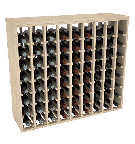 Creekside 72 Bottle Premium Table Wine Rack (Pine) by Creekside - Exclusive 12 inch deep design with solid sides. Hand-sanded to perfection!, (Solid Pine Wine Rack)
