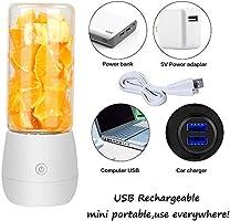 DOSNVG Centrífuga Licuadora, Smoothie Blender USB Juicer Cup, 17 ...